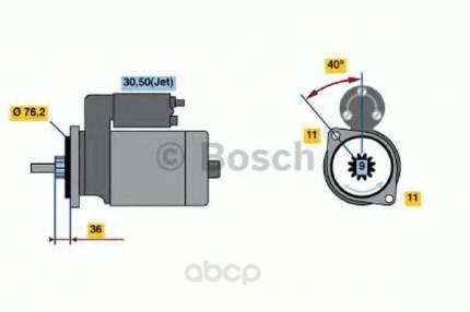 Стартер Bosch 0986016290