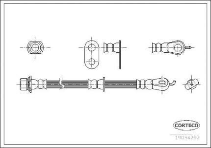 Шланг тормозной CORTECO 19034292