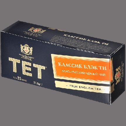 Чай Tet классик блэк ти черный  байховый мелкий 25 пакетиков