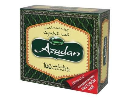 Чай черный Azadan оригинальный байховый с ярлыками 1.5 г*100 пакетиков