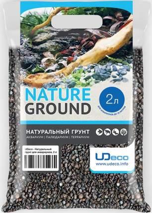 Натуральный грунт UDeco River Dark - для аквариумов Тёмный гравий 3-5 мм (2 л)