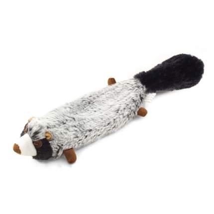 Мягкая игрушка для собак Triol Енот, серый, бежевый, черный, 31 см