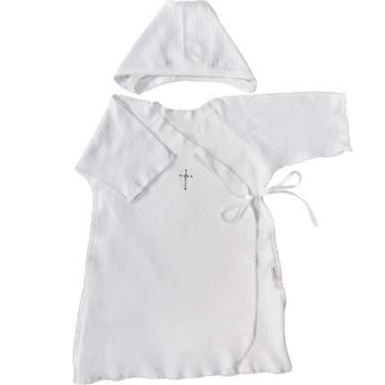Крестильный набор Папитто для мальчика 2 пр. белый р.20-62 31-5022