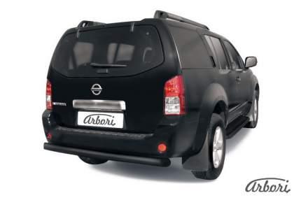 Защита заднего бампера d76 Arbori черный для Nissan PATHFINDER 2004-2010