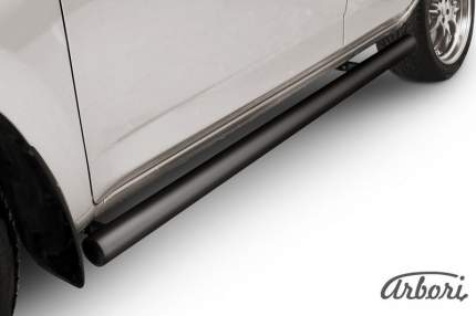 Защита порогов d76 труба Arbori черная для Toyota RAV4 2006-2010