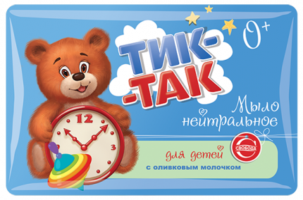 Мыло детское Тик-Такс оливковым молочком, 90г