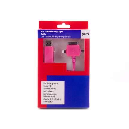 Кабель Gmini GM-MEL400FLPB 30-pin 1м Pink