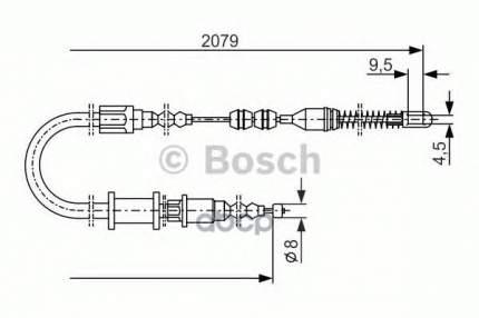 трос ручного тормоза Bosch 1987477141