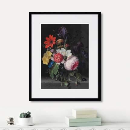 Картина A peony, an iris, a poppy anemones, 1710г., 52 x 42 см, Картины в Квартиру