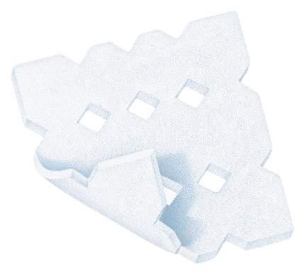 Повязка Permafoam cavity губчатая для тампонирования ран с экссудатом 10х10 см 3 шт.