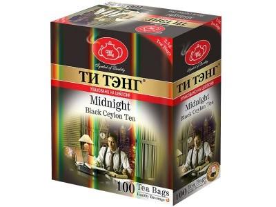Чай черный в пакетиках для чашки Ти Тэнг Midnight 100*2.5 г