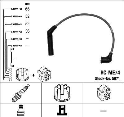 Комплект проводов зажигания NGK 5071