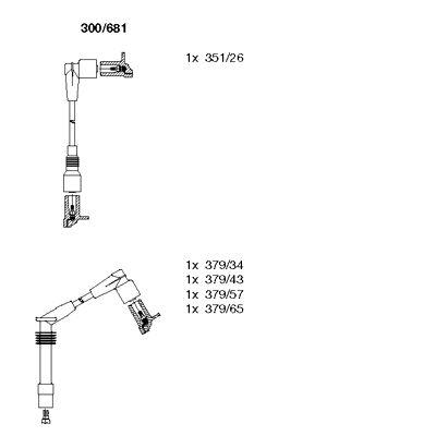 Комплект проводов зажигания BREMI 300/681