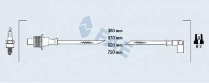 Комплект проводов зажигания FAE 85010
