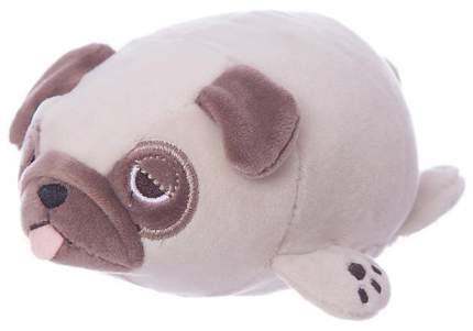 Мягкая игрушка ABtoys Мопс M2024 Светло-коричневая 27 см