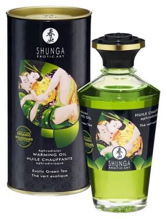 Массажное масло Shunga с ароматом зеленого чая 100 мл