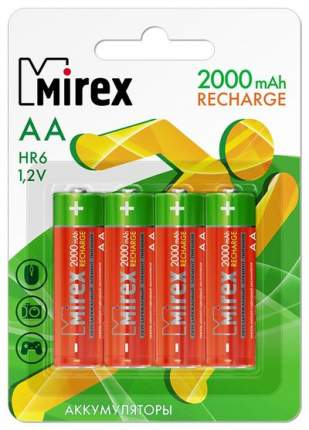 Аккумуляторная батарея Mirex HR6-20-E4 4 шт