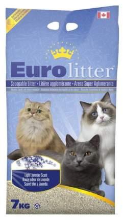 Комкующийся наполнитель для кошек Eurolitter бентонитовый, лаванда, 7 кг