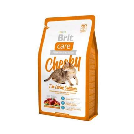 Сухой корм для кошек Brit Care Cheeky Outdoor, для активных уличных, оленина, 2кг