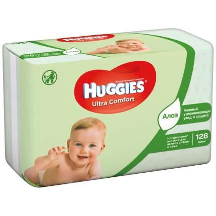 Детские влажные салфетки Huggies Ultra Comfort Aloe, 128 шт.