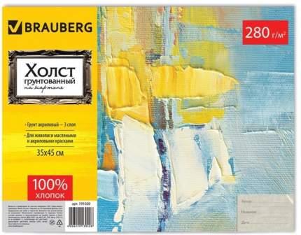 Холст грунтованный на картоне Brauberg 191020, 35х45 см, 100% хлопок, мелкое зерно