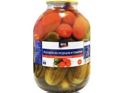 Ассорти Aro огурцы-томаты 3 кг