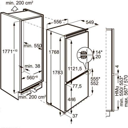 Встраиваемый холодильник Electrolux ENG2693AOW White