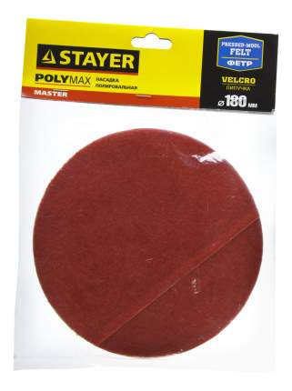 Круг фетровый для угло, полировальных шлифмашин Stayer 35930-180