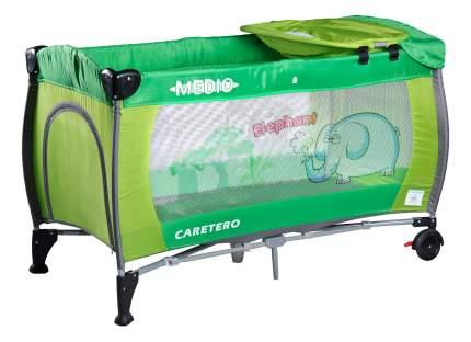 Манеж-кровать Caretero Medio classic green