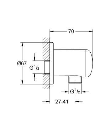 Подключение для душевого шланга Grohe 28671000