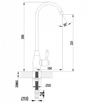 Кран для воды Lemark Villa LM4840B бронза