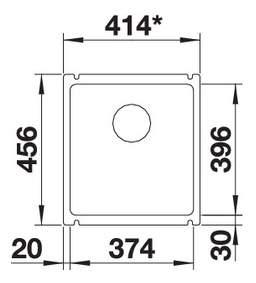 Мойка для кухни керамическая Blanco SUBLINE 375-U 516035 глянцевый белый