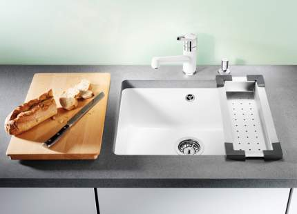 Мойка для кухни керамическая Blanco SUBLINE 500-U 514506 глянцевый белый