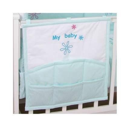 Текстильная карман в детскую кроватку Fairy Белые кудряшки 0001019.13