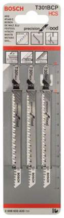 Набор пилок для лобзика Bosch T 301 BCP, HCS 2608633A33