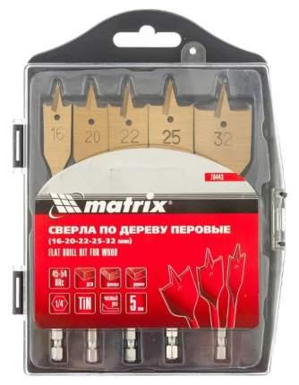 Набор перьевых сверл MATRIX -32 мм 5 шт 70443