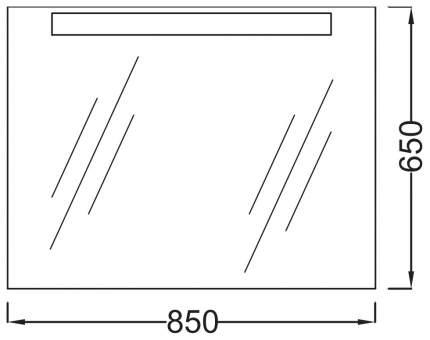 Зеркало для ванной Jacob Delafon Presquile 051EB1109-NF серебристый