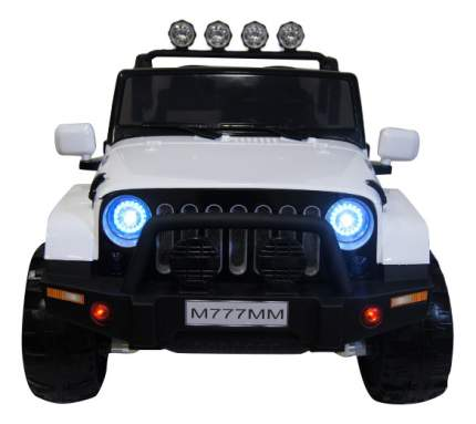 Электромобиль Jeep белый RIVERTOYS