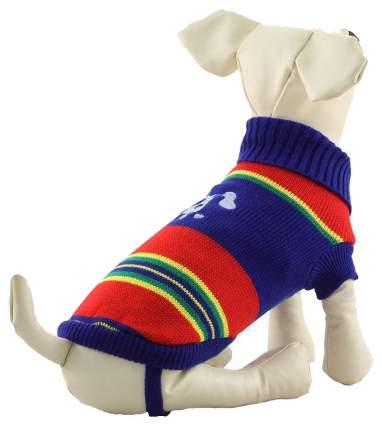 Свитер для собак Triol размер XXL унисекс, синий, красный, длина спины 45 см