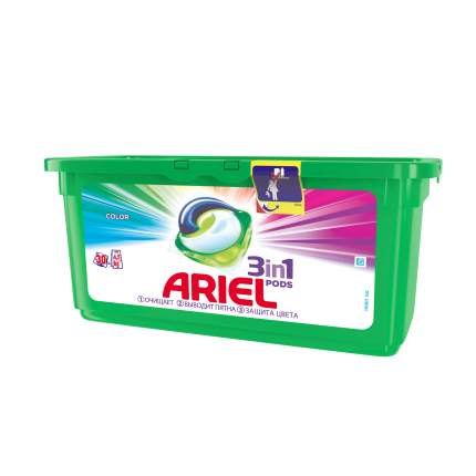 Гель для стирки Ariel liquid capsules color автомат в растворимых капсулах 30*27 г