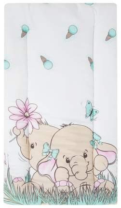 Комплект в коляску (матрасик+подушка) Leader Kids «Два слоника» GL000722818, бязь, Ментол