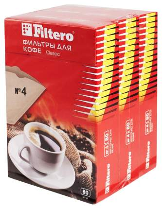 Фильтр универсальный для кофеварок Filtero Classic №4
