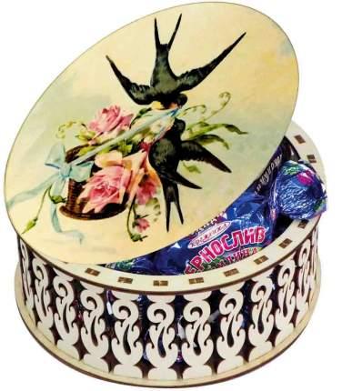 Конфеты Кремлина чернослив шоколадный шкатулка круглая ласточка 400 г