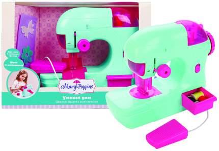 Швейная машинка игрушечная Mary Poppins Умный дом бирюзовая свет звук