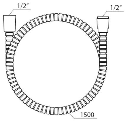 Душевой шланг Ravak 150 см 912.50 из прочного пластика, X07P065