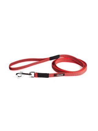 Поводок для собак Gripalle, прорезиненный нейлон, стальная фурнитура, красный, 2х300 см
