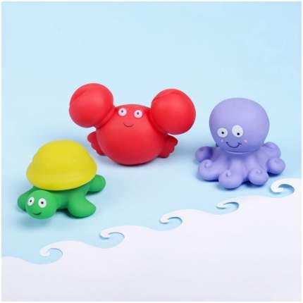 """Игрушки-пазл для ванны """"Морские жители"""", 3 шт. Крошка Я"""