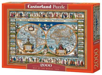 Пазлы C-200733 Средневековая карта мира, 2000 деталей Castor Land