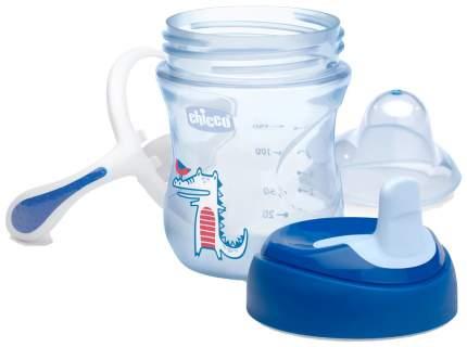 Chicco Поильник Chicco Training Cup (полужесткий носик), 1 шт,, 6+, 200 мл, синий