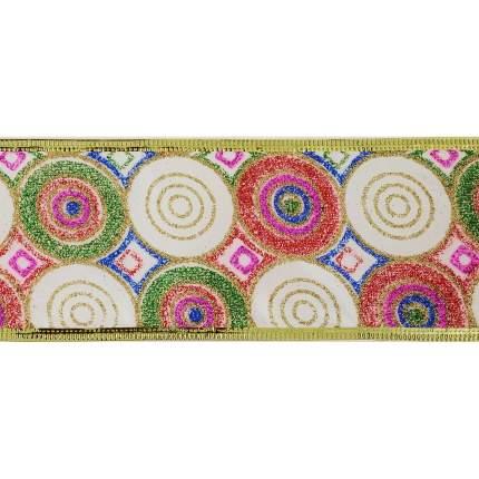 Лента декоративная Феникс Present Цветные кружочки 6,3x270 см